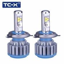 TC-X 2 Lâmpadas/Set Luz Do Carro LEVOU H4 Oi lo feixe levou farol lâmpadas H7 H1 H11 9006 9005 H27/880 Auto Lâmpada do Farol 6000 K Luz