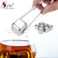 8pcs Stainless Steel Ice Cube With Tong