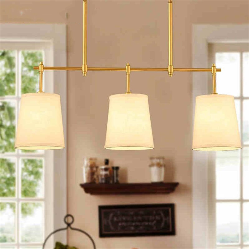 3 Head American Countryside Creative Wrought Iron Pendant Light Cloth Art Foyer Light Cafe Decoration Light Free Shipping