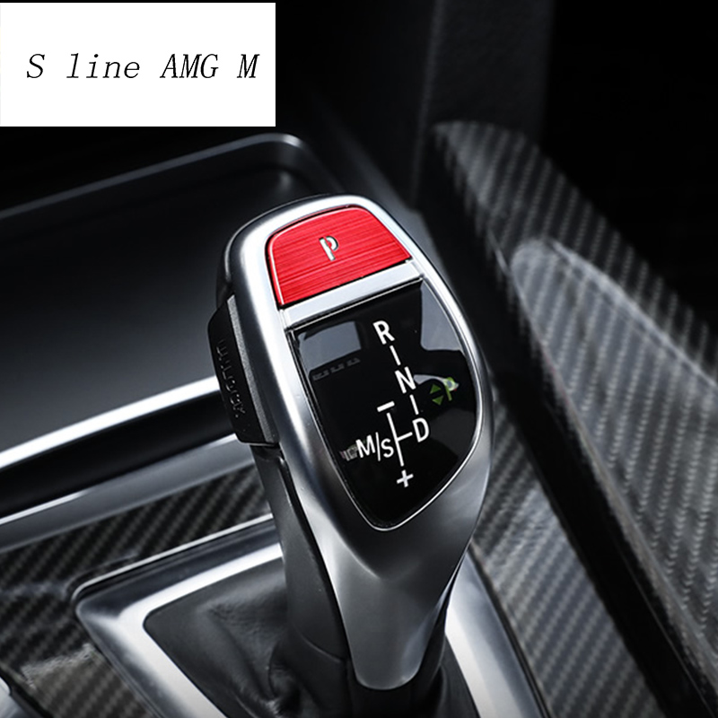 Car Styling Style Gear Shift Handle Sleeve Buttons Panel Covers Stickers Trim For <font><b>BMW</b></font> <font><b>5</b></font> Series <font><b>F10</b></font> F18 Auto Interior Accessories image