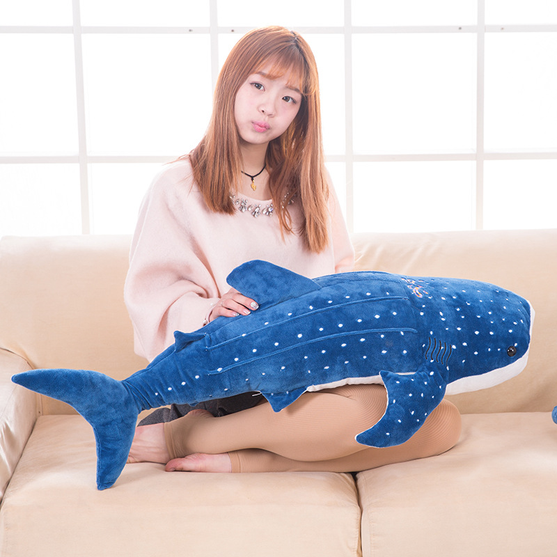 middle new plush blue shark toy stuffed sea whale doll gift about 100cm 50 100cm new style blue shark plush toys big fish cloth doll whale stuffed plush animals doll children birthday gift