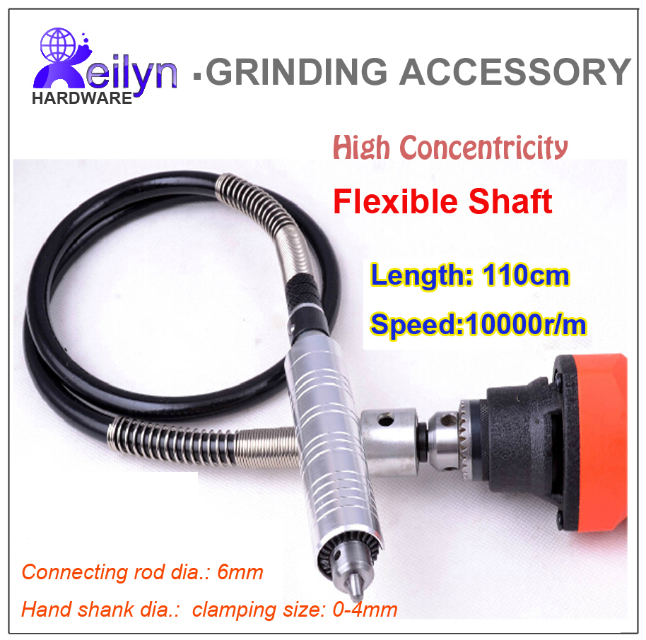 Free shipping chuck 0-4mm adjustable Flexible Shaft Tube for Electric Grinding Machine clamping size 0-4mm adjustable jade hanging milling machine flexible shaft machine jewelry polisher 4mm 220v
