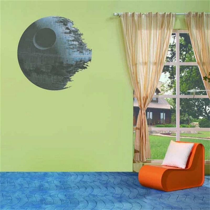 HTB1WYJkOFXXXXaRXFXXq6xXFXXXN - Death Star Wars Poster Wall Stickers Movie Wall Decals Art for Boys Nursery Kids Room Home Decoration WallPaper Kids Wall Paper