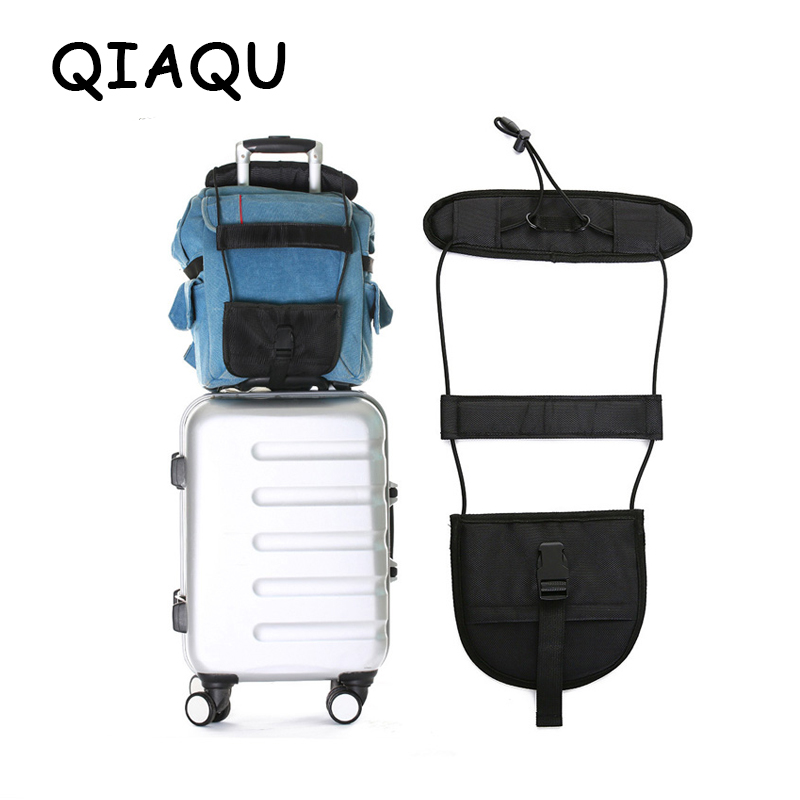 QIAQU Elastic Telescopic Luggage Strap Travel Bag Parts Suitcase Fixed Belt Trolley Adjustable Security Accessories Supplies Travelon Bag Bungee