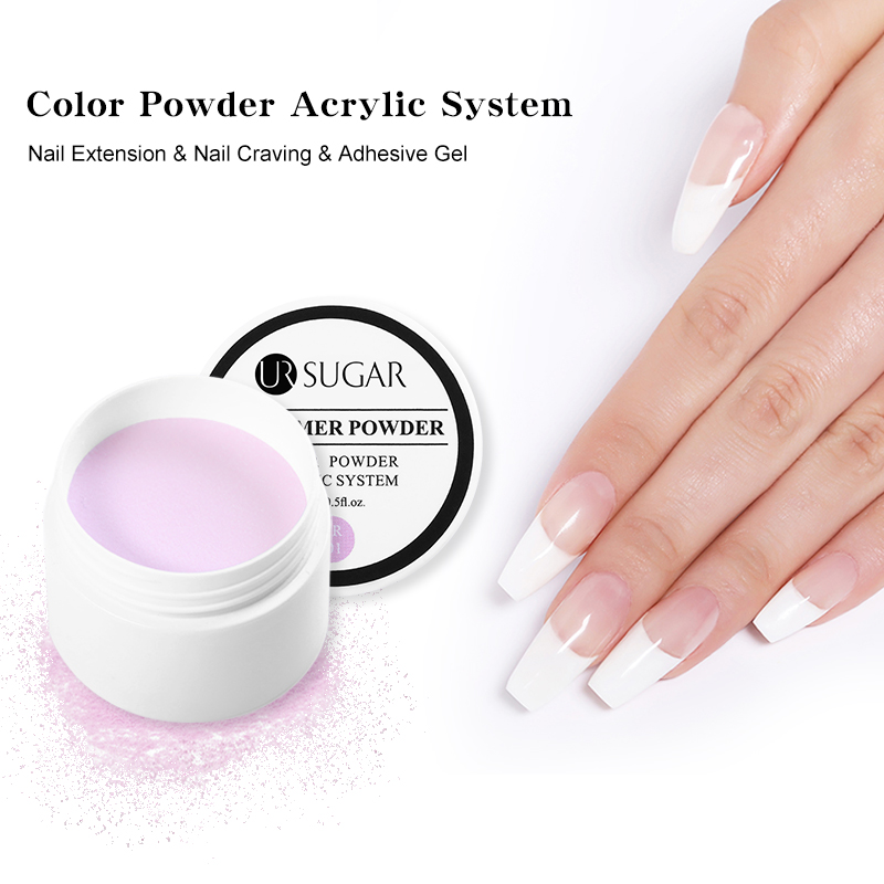 UR SUGAR 20g Acrylic Powder Crystal Polymer Nail <font><b>Art</b></font> Design False Tips Nails <font><b>Art</b></font> Builder Pink White Manicure Nail Polymer <font><b>Tools</b></font> image