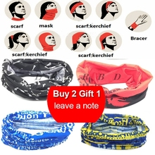 2019 Buy Two Get One LKPRBD Bicycle Seamless Bandanas Summer Outdoor Sport bandanas Ride Mask Bike Magic Scarf Cycling Headband