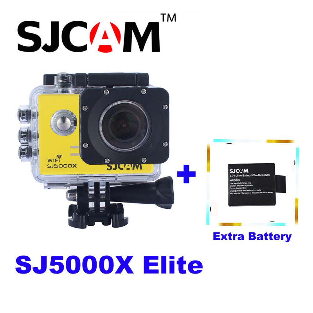 """Prix pour Batterie supplémentaire, 2.0 """"4 K D'origine SJCAM Sj5000 Série SJ5000X Elite WiFi NTK96660 Gyro Action Sports Caméra Sj 5000X Cam DVR"""