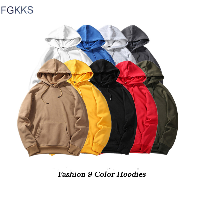 FGKKS Fashion Brand Men Casual Hoodie 2020 Autumn Male Solid Color Pullover Hoodies Unisex Casual Hoodie Top Male EU Size S-2XL