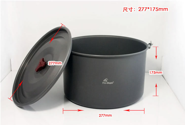 Large Capacity 8L Group 6-8 Persons Outdoor Camping Picnic Cookware Alumium Cooking Big Hanging Pot FMC-215 Free Shipping fire maple fmc 215 8l outdoor pot picnic cooking cookware hanging kettle