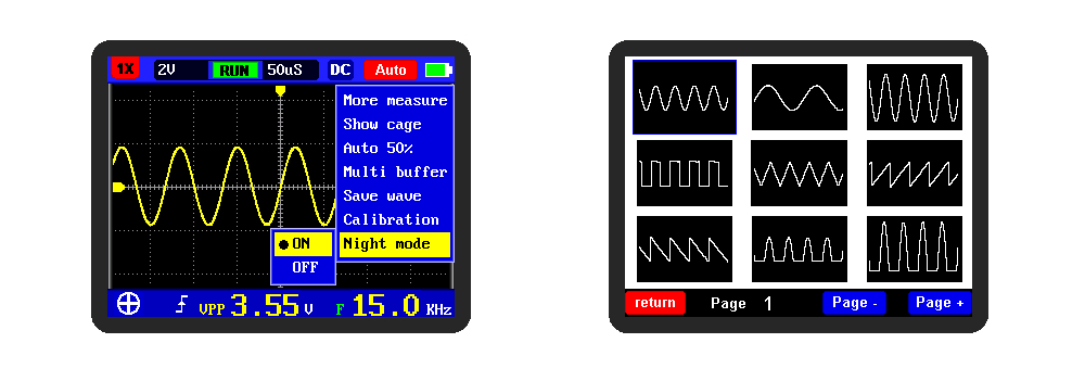 DSO FNIRSI Portable Digital Oscilloscope with 5M Bandwidth 20MSps Sampling Rate