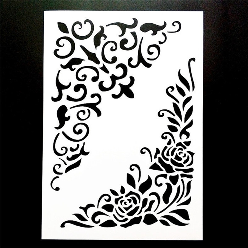 A4 Size DIY Decor Art Stencil Templat For Wall Painting Scrapbooking Stamping Photo Album Decor