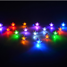цена на  20pcs/lot LED Crystal Flashing Earrings Rhinestone Star Nightting Up Earstuds Nightclub Pub Performance Favors L318