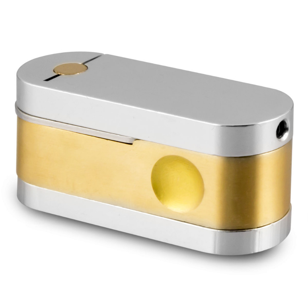 Twister Pipe Brass and Chrome Pocket Smoking Pipe 1