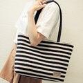 Cecelia 2016 New Arrival high quality striped shouler bag Shopping bag women canvas handbag vintage big bags for women