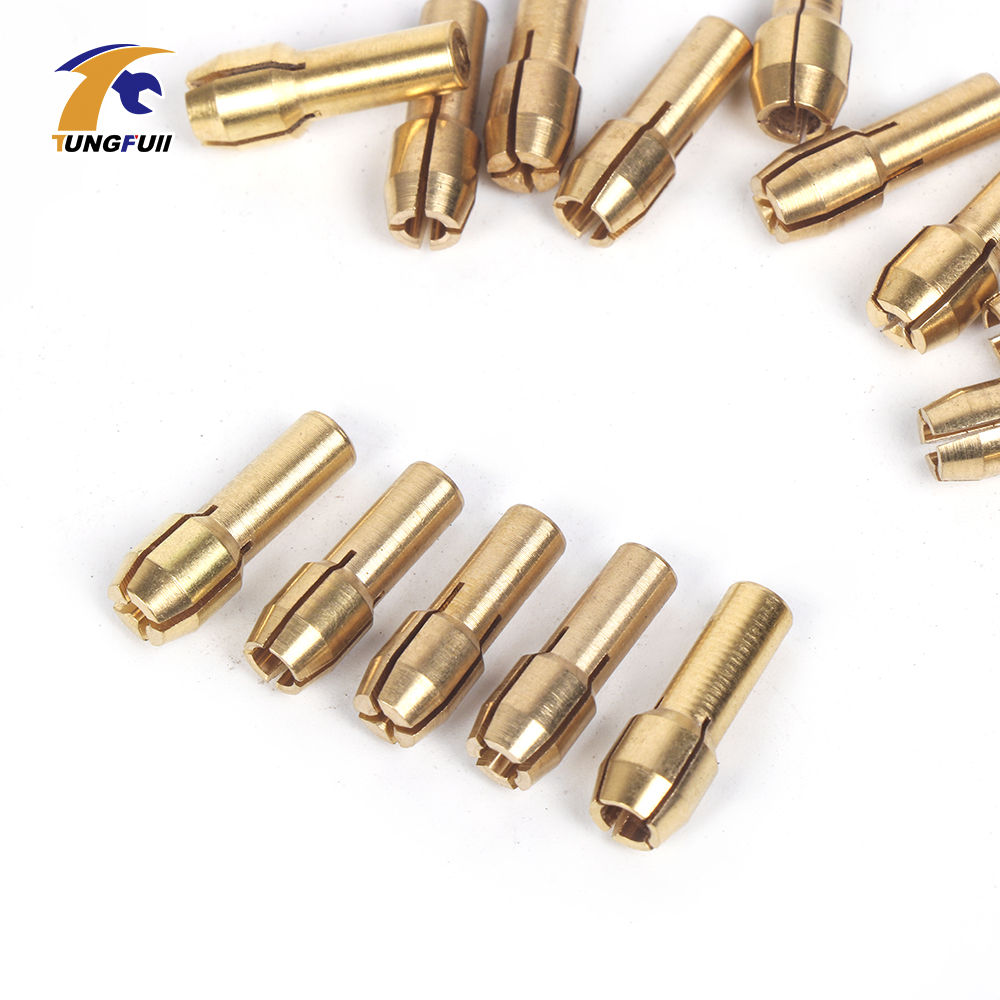 Tungfull Power Tools Woodworking Set 15Pcs/set Mini Drill Brass Collet Chuck Dremel Style Accessories Grinding For Rotary Drill