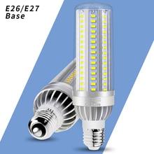 E27 Led Corn Light Bulb E26 220V Led Lamp 25W 35W 50W Ampoule SMD 5730 Hight Brightness Led Bulb For Factory 85-265V Fan Cooling цена