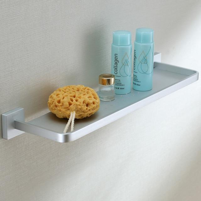 54CM solid aluminum wall shelf shower caddy single layer bathroom accessories aluminum material