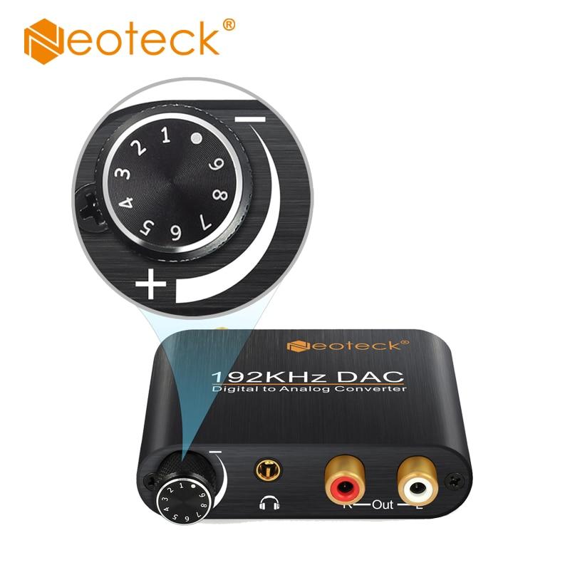 DAC Digital Analog Audio Converter Optical Koaxialtoslink Analog RCA 3,5mm Jack Adapter Mit Lautstärkeregler Für AV Amp