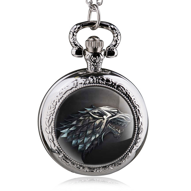 Game of Thrones Stark Winterfell Wolf Watch Pendant Jewelry