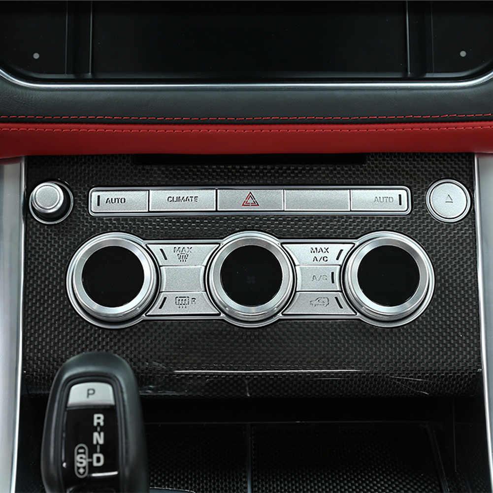 Mới Cho Land Rover Range Rover Sport L494 2014-2017 Xe Ô Tô Trung AC Nút Âm Lượng Miếng Dán Cường Lực Viền Cho Phạm Vi ngành Tráng Vogue L405 2013-2017