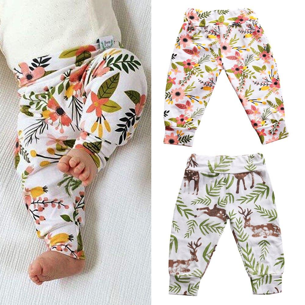 2019 Newborn Infant Baby Boy Girls Bottoms Casual Deer Harem Pants Leggings Pants(China)