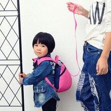 Droppshipi Fashion Children Backpack Anti-lost Canvas Bag Cartoon Animal Bear Pattern Kindergarten Kids Baby School Bags BFJ55