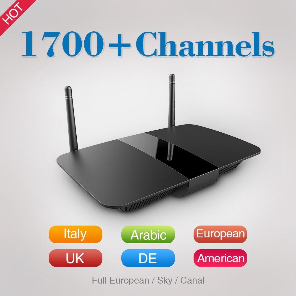 Caja de la TV inteligente Iudtv Q1504 Android Tv Box Con 1 Año IPTV Completo Eur