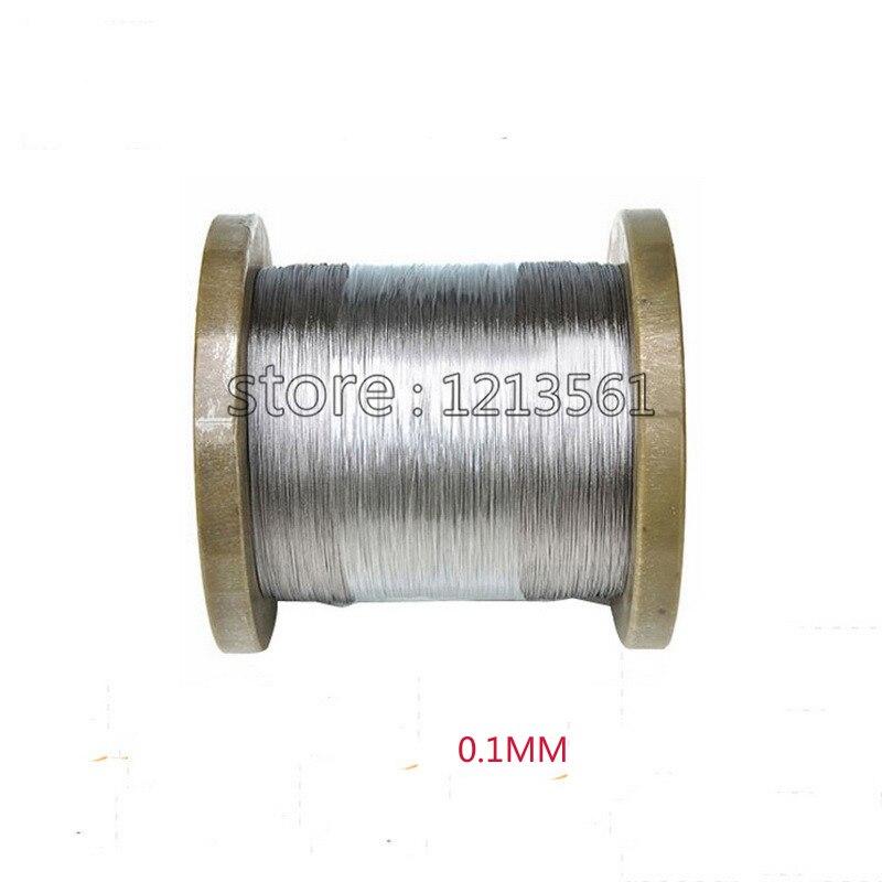 304,321,316 Freies Verschiffen GroßEr Ausverkauf 0,1mm Durchmesser Helle Stahldraht Harte Bedingung Edelstahl Draht