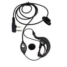 На заказ список 100 шт. 2pin K порт PTT наушник микрофонная гарнитура для портативная рация kd-c1