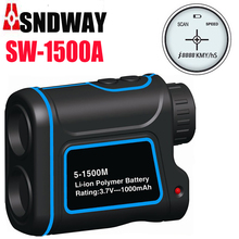 Wholesale 1500m Golf laser range finder rangefinder hunting rangefinder Measuring height / speed /angle monocular telescope