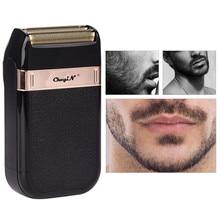 Mini tłokowych golarka elektryczna dla mężczyzn folia podróży USB akumulator broda Razor Cutter trymer golenie włosów maszyna 37