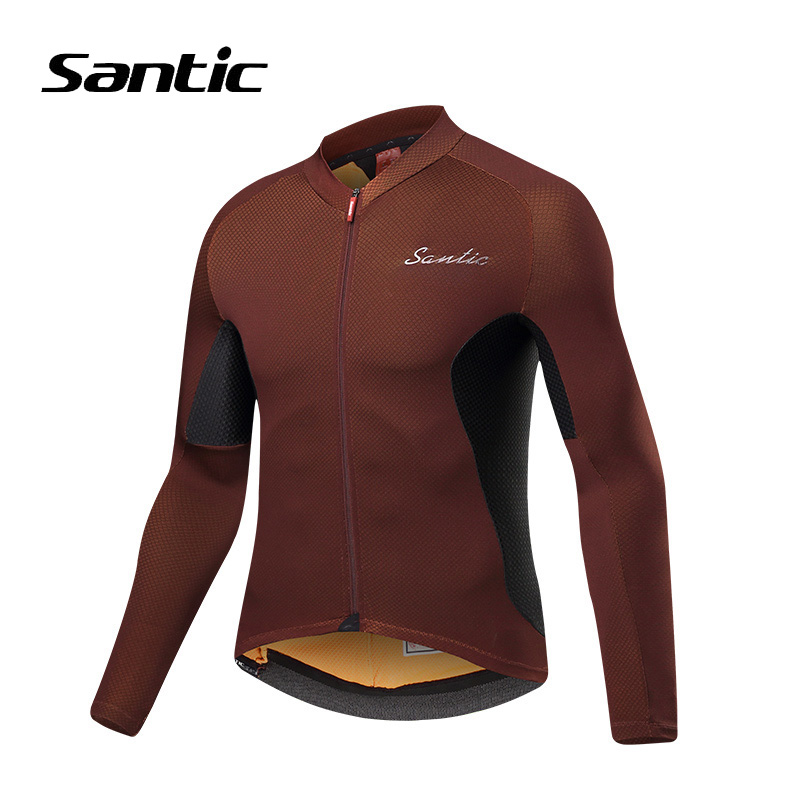Santic Cycling Jersey Spring Autumn Bicycle Jersey Men Long Sleeve Breathable Quick Dry Bike Jersey Cycling