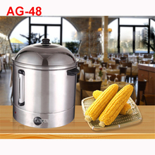 AG-48 dual layer temperature conroler available 48L large sweet steamer maize 110 / 220V Stainless steel Electric Food Steamers
