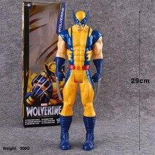 9 Styles 30cm Marvel Anime Toy The Avengers Superhero Captain America Wolverine Spiderman Iron Man Thor PVC Action Figure Model