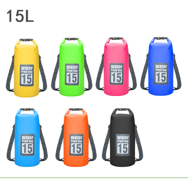Topdudes.com - 15L 20L Outdoor River Trekking Bag Double Shoulder Strap Swimming Waterproof Bags