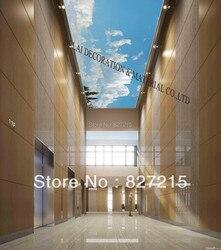 S-5869/печатная потолочная плитка/ПВХ Натяжная потолочная пленка/украшение дома или потолка/Функция как потолочная панель