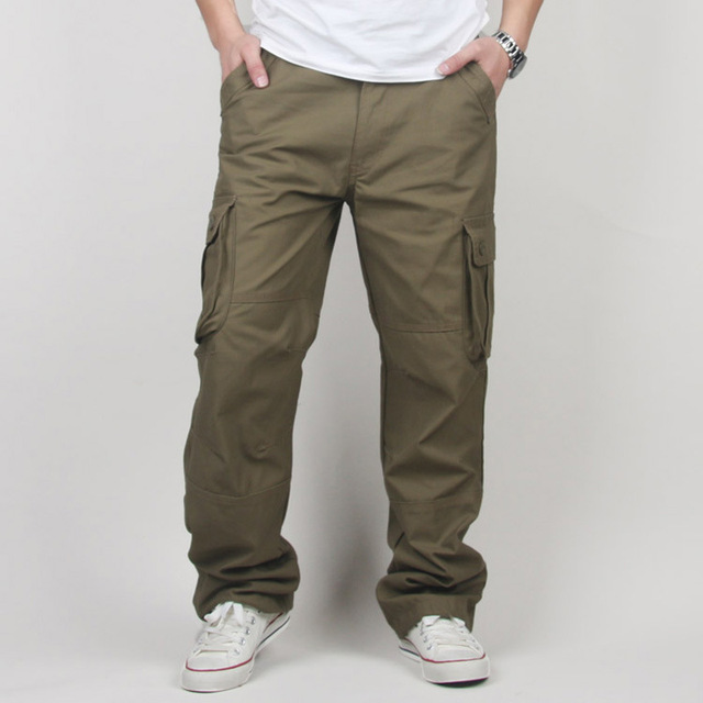30-44 Plus size High Quality Men's Cargo Pants Casual Mens Pant Multi Pocket Military Tactical Long Full Length Trousers 2