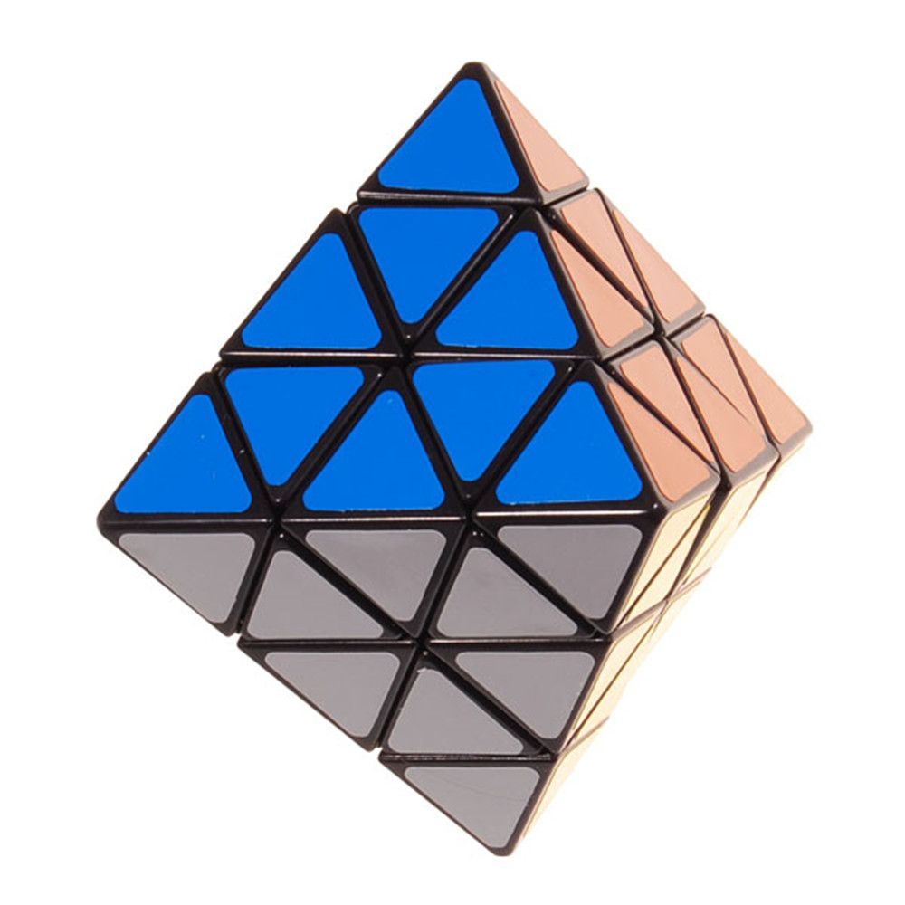8-Axis Octahedron Magic Cube Black Puzzle Educational Toy Special Toys cube style verypuzzle clover octahedron puzzle limited edition twisty puzzle educational toys magic cube