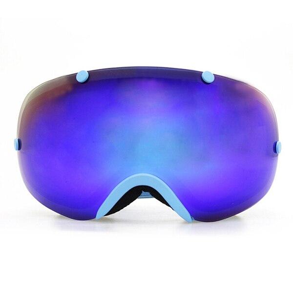 Acheter Populaire lunettes de ski 2 double lentille UV400 anti buée grandes lunettes de ski lunettes ski snowboard lunettes Bleu de ski goggles fiable fournisseurs
