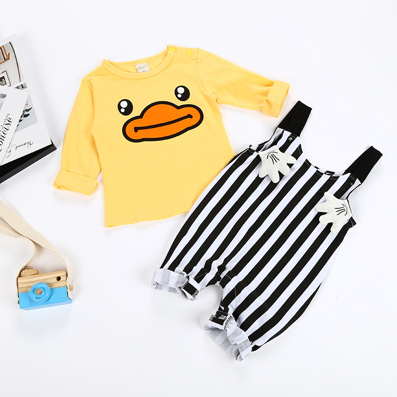 2Pcs Baby Girl Clothing Sets Cartoon Baby Romper Spring Baby Boy Clothes Long Sleeve Infant Jumpsuits Cute Newborn Baby Clothes cute newborn infant baby girl boy long sleeve top romper pants 3pcs suit outfits set clothes