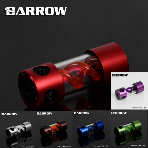 Barrow LLYKC155 VIRUS T cylinder water reservoir Aluminum case water tank 155mm computer water cooling UV Lighting included кеды shuzzi shuzzi sh015abqkt27