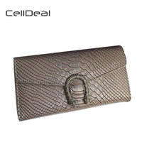 CellDeal Hot Products Buckle Wallets Women Tote Bags Women Walle Embossed Serpentine Purses Snake Buckle Handbags