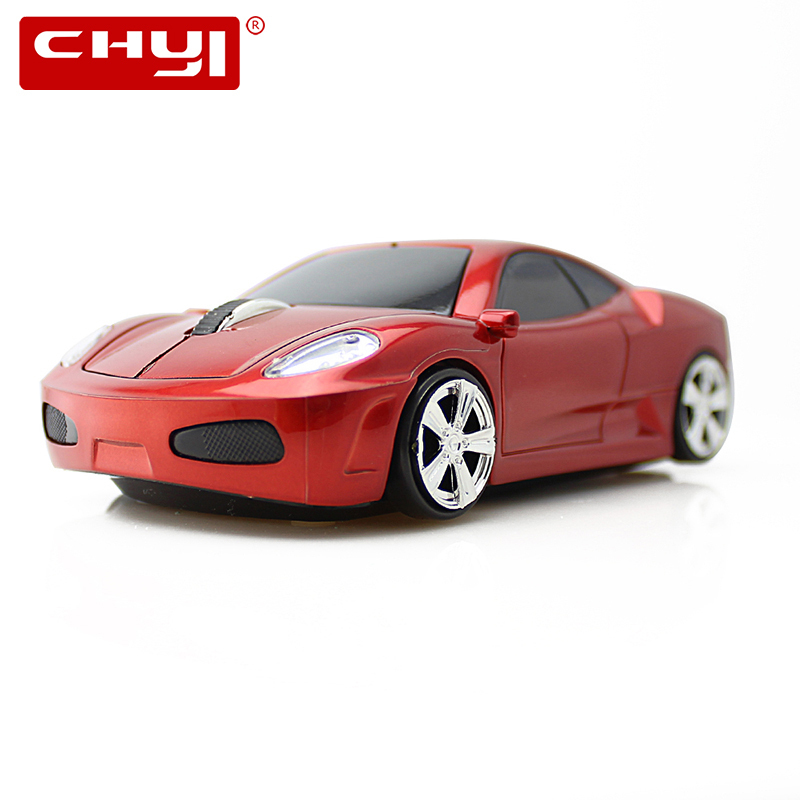 CHYI Cool Wireless Car Mouse With LED Flashing Light 1200DPI Optical Gaming Mice USB Computer Mause for Gamer PC Desktop Laptop 2 4ghz 1200dpi usb 2 0 wireless optical mouse for pc laptop notebook