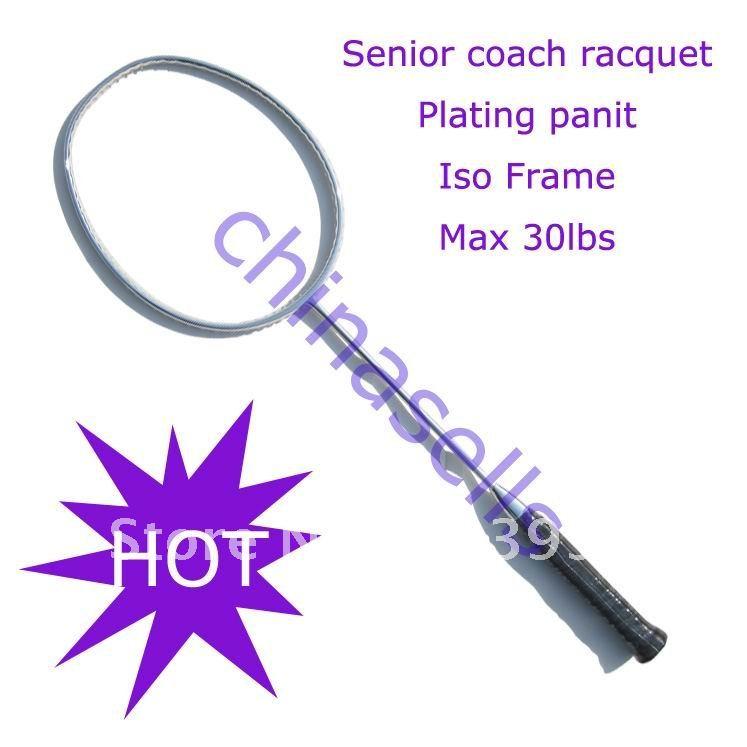 Тренер посвященный ракетки для бадминтона ракетки без логотипа, новый, 3 цвета, 30lbs, полный углерода, бесплатно 1 Sweatband, 1 линия (уже ул