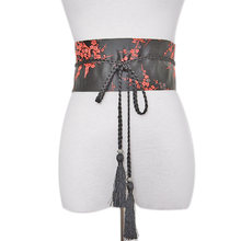 Галстук атласный пояс Модный женский ретро цветочный ремень