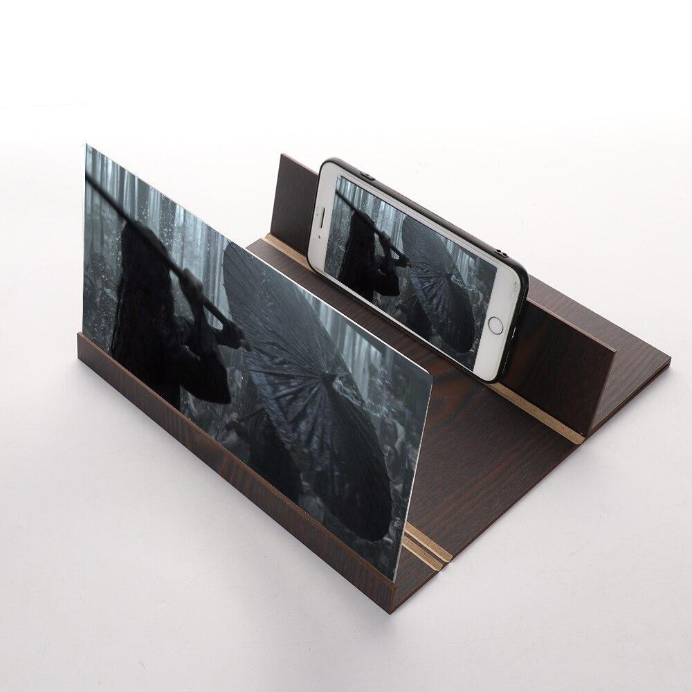 12 pulgadas de registro 3D de pantalla de teléfono móvil de Video de escritorio plegable soporte amplificador