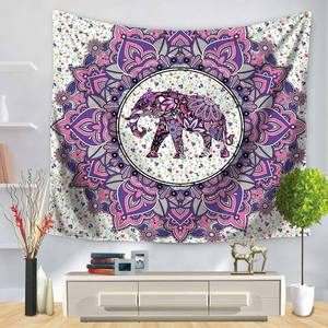 Image 5 - Индийский Слон Настенный Гобелен Мандала Цветочный Ковер шикарное богемное украшение детская комната пляжное полотенце Племя Стиль Декор