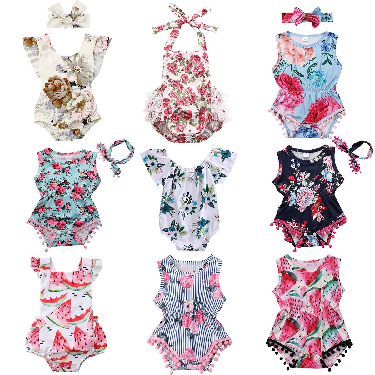 Newborn Toddler Girls 2Pc Tassel Outfits Coconut Print Short Sleeve Floral T-Shirt Tops Elastic Waist Shorts Summer Clothes