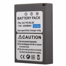1 x 2200mAh PS-BLS5 BLS-5 BLS5 Battery for Olympus OLY. E400 E410 E420 E450 E600 E620 E-P1 E-P2 E-P3 E-PL1 E-PL2 E-PL3 E-PM1