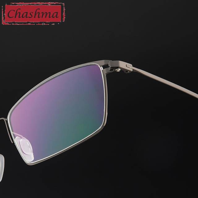Chashma Marca Liga De Titânio Óculos Ultra Light Vidros do Olho Óptico óculos  Quadros Homens Óculos 72f545b764